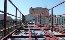 estrutura metálica piso técnico da cobertura - março 2012