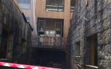 obra em Maio 2012 - a nova rua interior e a passagem para avenida Conde Margaride