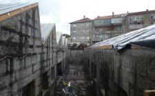obra em Maio 2012 - a nova rua interior