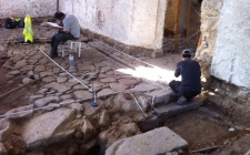 Archaeological survey of ancient pavement