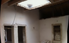April 2015 - Application of lime plaster and the small skylight restored