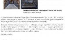 Prémio Nacional de Reabilitação Urbana 2016 ; artigo Diario Imobiliar