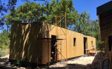 Aplicação das paredes em madeira OSB