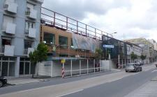obra em Maio 2012 - a fachada sul