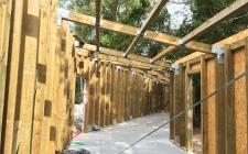 Esqueleto da estrutura de madeira