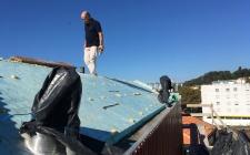 obra setembro 2018 - preparação de cobertura em zinco