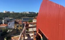 obra setembro 2018 - fachada em chapa ondulada