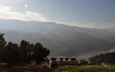 Ruina existente e o vale do Douro