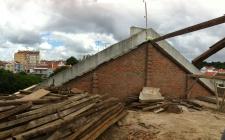 Demolição de telhado existente Jun 2016